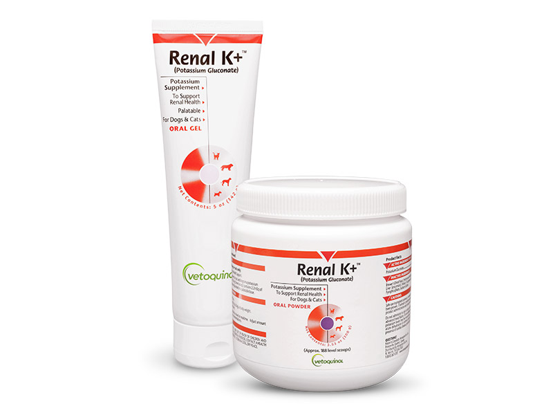 Renal K+ Potassium Supplement Gel for Cats and Dogs